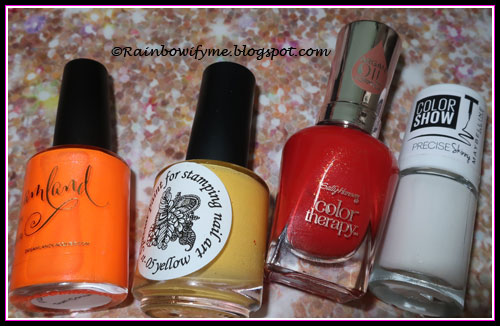 Dreamland Sun Conure, El Corazón Yellow, Sally Hansen Red-itation, Maybelline White Stripes