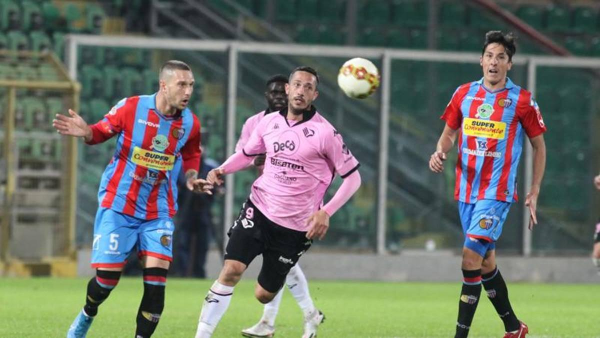 1-1 derby Catania Palermo di serie C