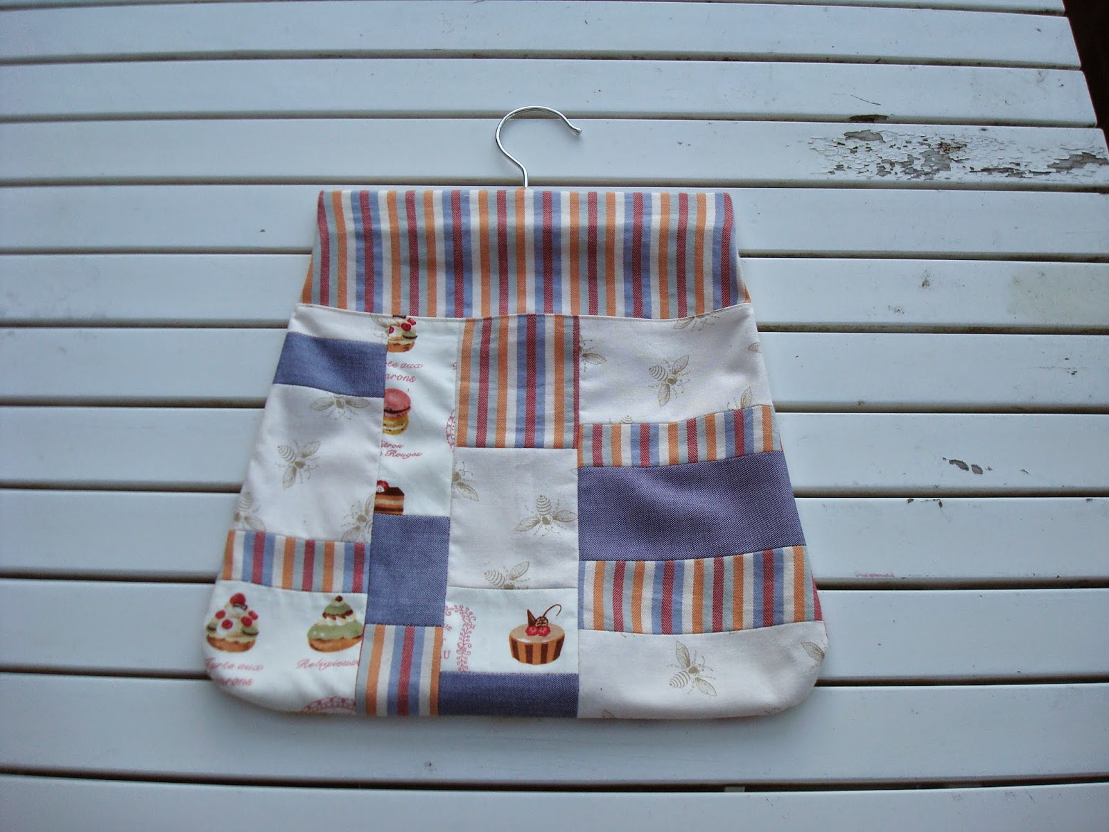 Patchwork peg bag front