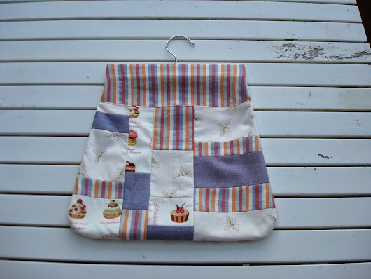 Patchwork peg bag