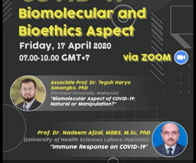 *Online Seminar*  *Covid 19;  Biomolecular and Bioehics aspect.*