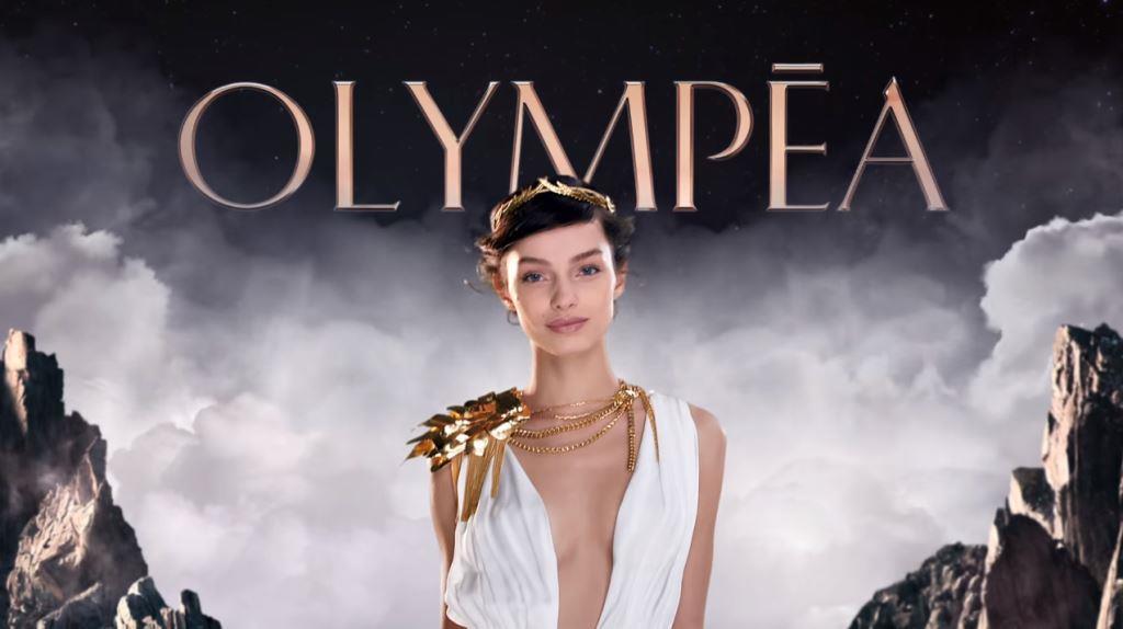 modella Pubblicità Paco Rabanne Olympea