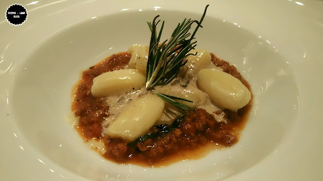 Potato Gnocchi with lamb ragout and cream of parcini @ The North Italian Food Festival @ Alto Vino | Marriott Whitefield | Bangalore