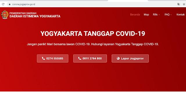 update virus corona di Yogyakarta