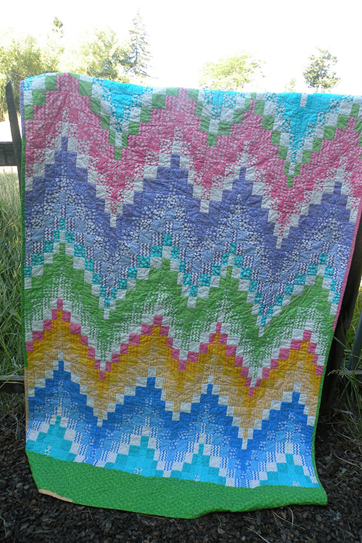 Jelly Roll Bargello Quilt Free Tutorial