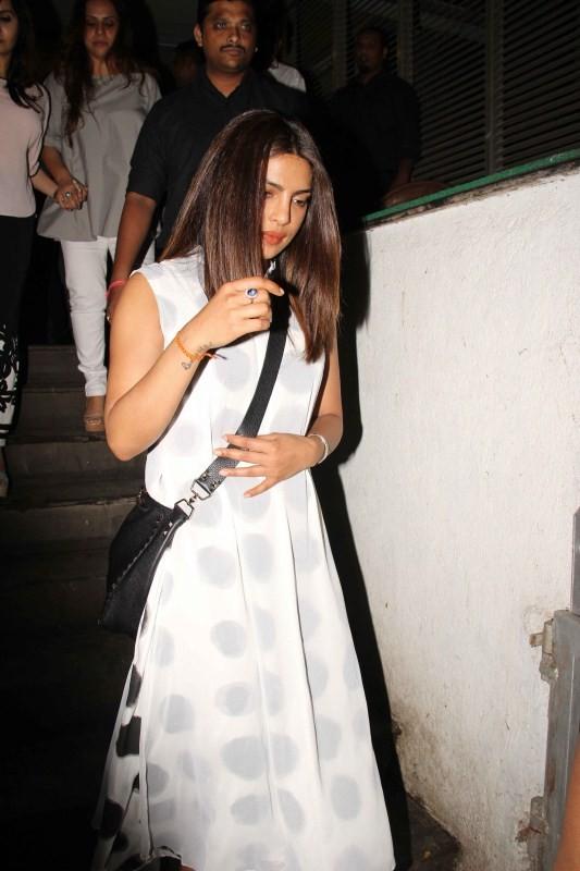Priyanka Chopra Spotted with Family and Friends at Hakkasan