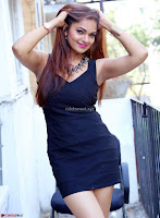 Actress and Model Ashwini in Beautiful Short Black Mini Dress ~  Exclusive 012.jpg