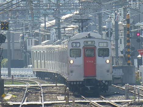 【すでに運行終了!】7000系の快速 横浜行き