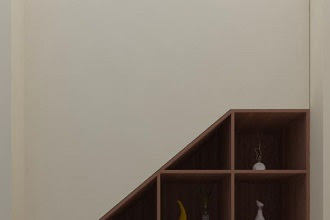 Gambar 3d lemari bawah tangga rendering berkualitas harga murah