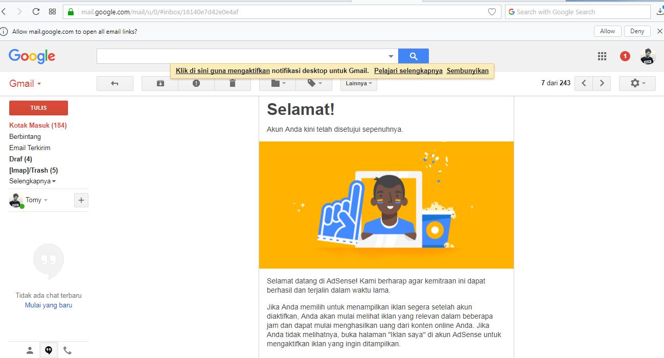 Pesan Google AdSense