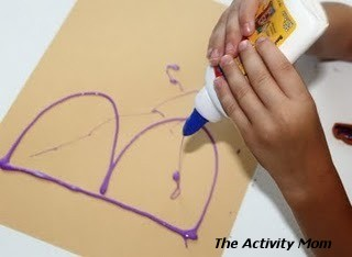 paint with colored glue
