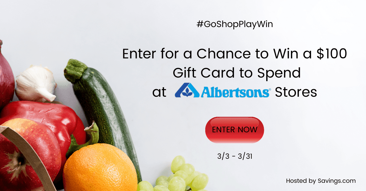 Enter to win gift cards from Albertson's