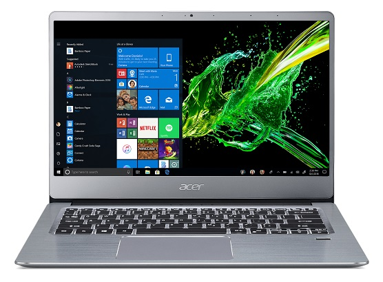 Acer Swift 3 with AMD Ryzen processor and Radeon Graphics Cards