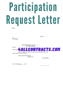 Closing Bank Account Letter - Download word