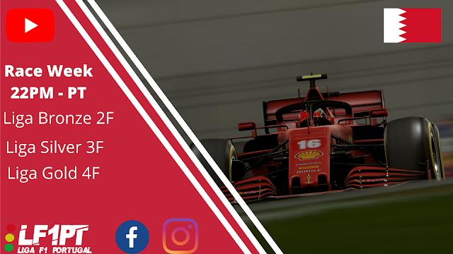 A Liga F1 Portugal viaja até ao circuito do Barhain para o arranque da 9º corrida do campeonato