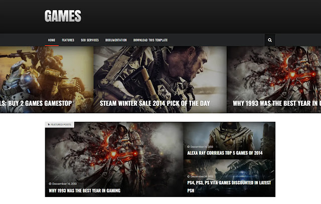 Sora Games Responsive Personal Blog Magazine Games News Sites Tutorial Tips and Tricks Blogger Template Theme