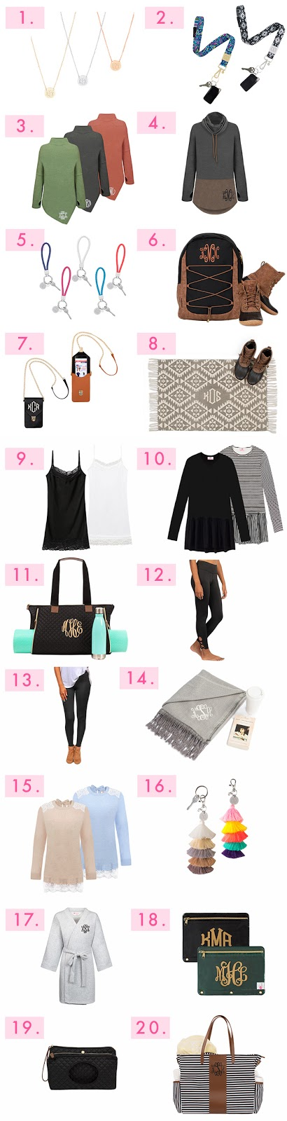 monogram accessories and clothing