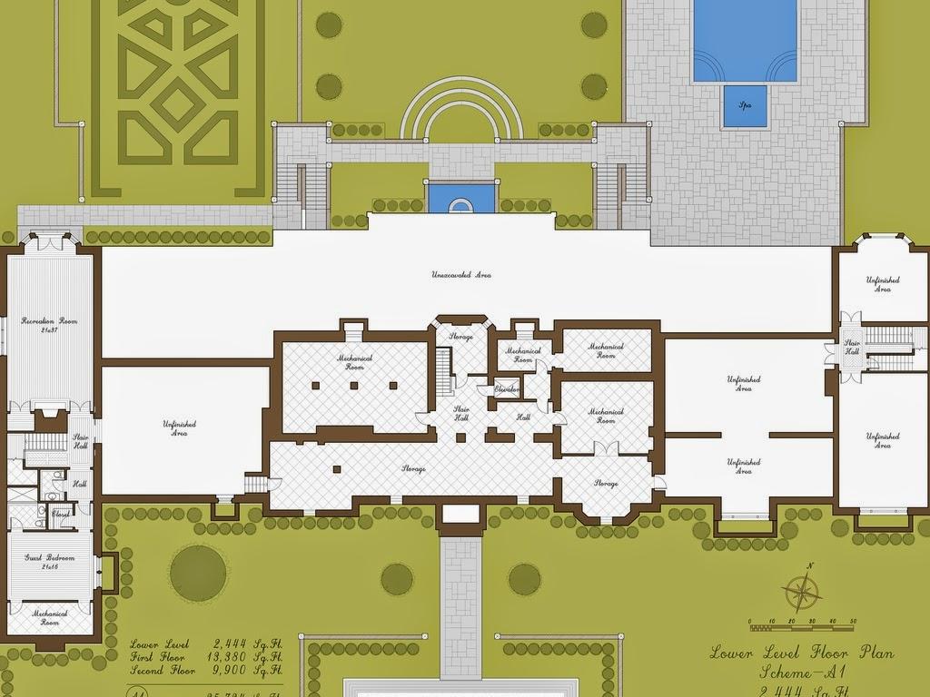 Floor Plans on Pinterest | Mansion Floor Plans, Ground ...