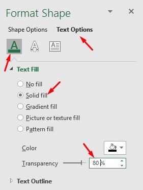 Mengatur Transparansi Watermark di Excel