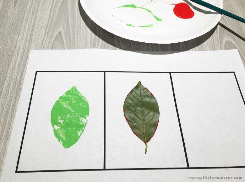 leaf printing on paper