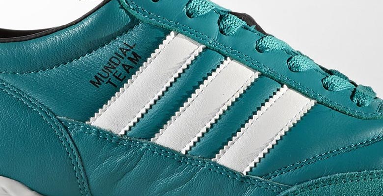 The Adidas EQT Green pack includes a new colorway for the iconic Mundial  Team turf model 50841fedb