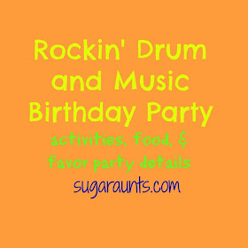 Rockin Drum And Music Birthday Party Details The Ot Toolbox