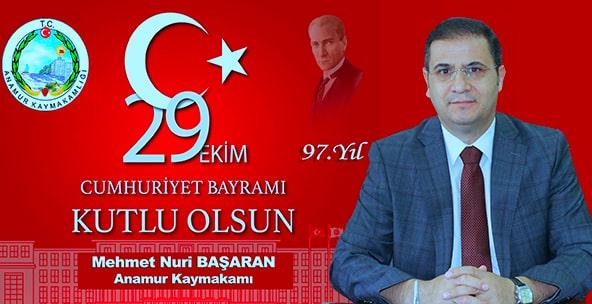 Anamur Kaymakamı Mehmet Nuri Başaran,Anamur Haber,Anamur Son Dakika,