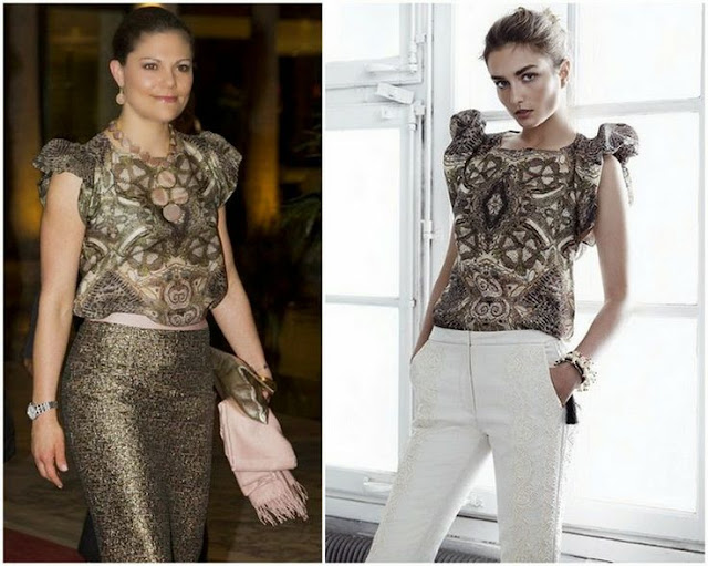 Crown Princess Victoria in H&M Conscious Collection