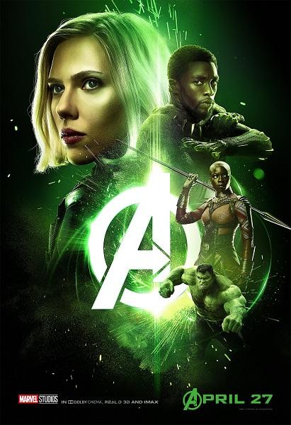 Avengers: Infinity War Black Panther - Black Widow - Okoye - Hulk