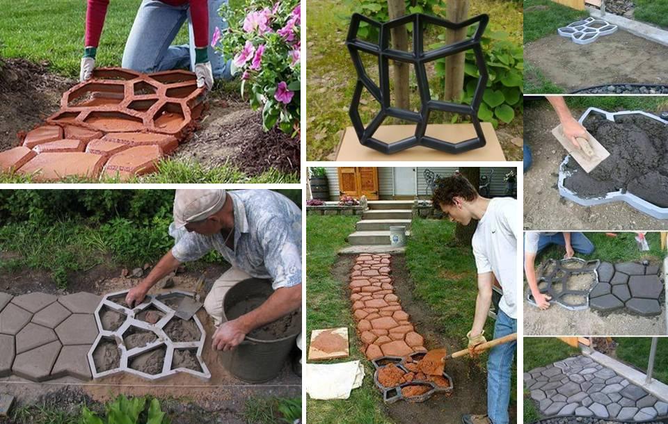 DIY Backyard Stepping Stones 7$ Frame