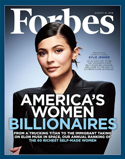 Kylie Jenner self-made Billionaire on Forbes cover. BillionaireGambler.com