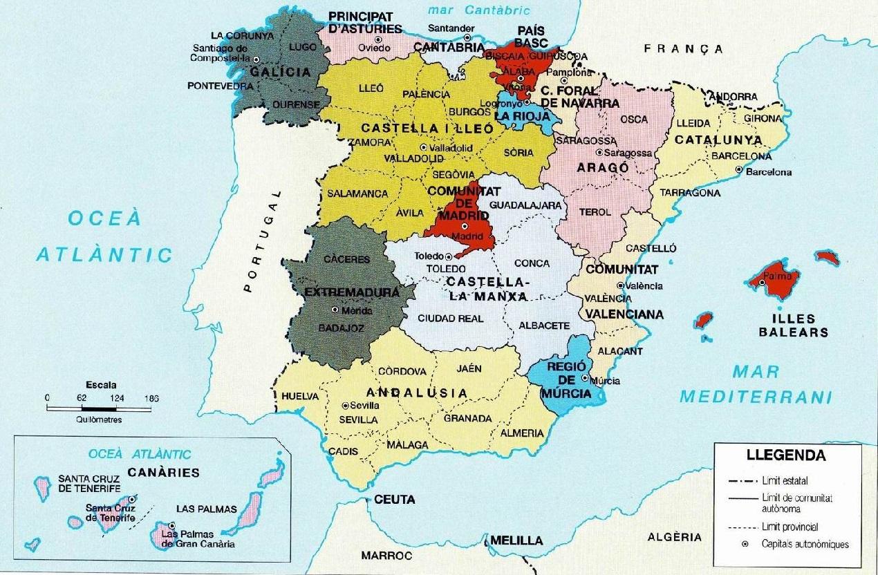 Mapa Interactiu Provincies Espanya.Inmaculada I La Seva Aula Comunitats Autonomes I Provincies D Espanya