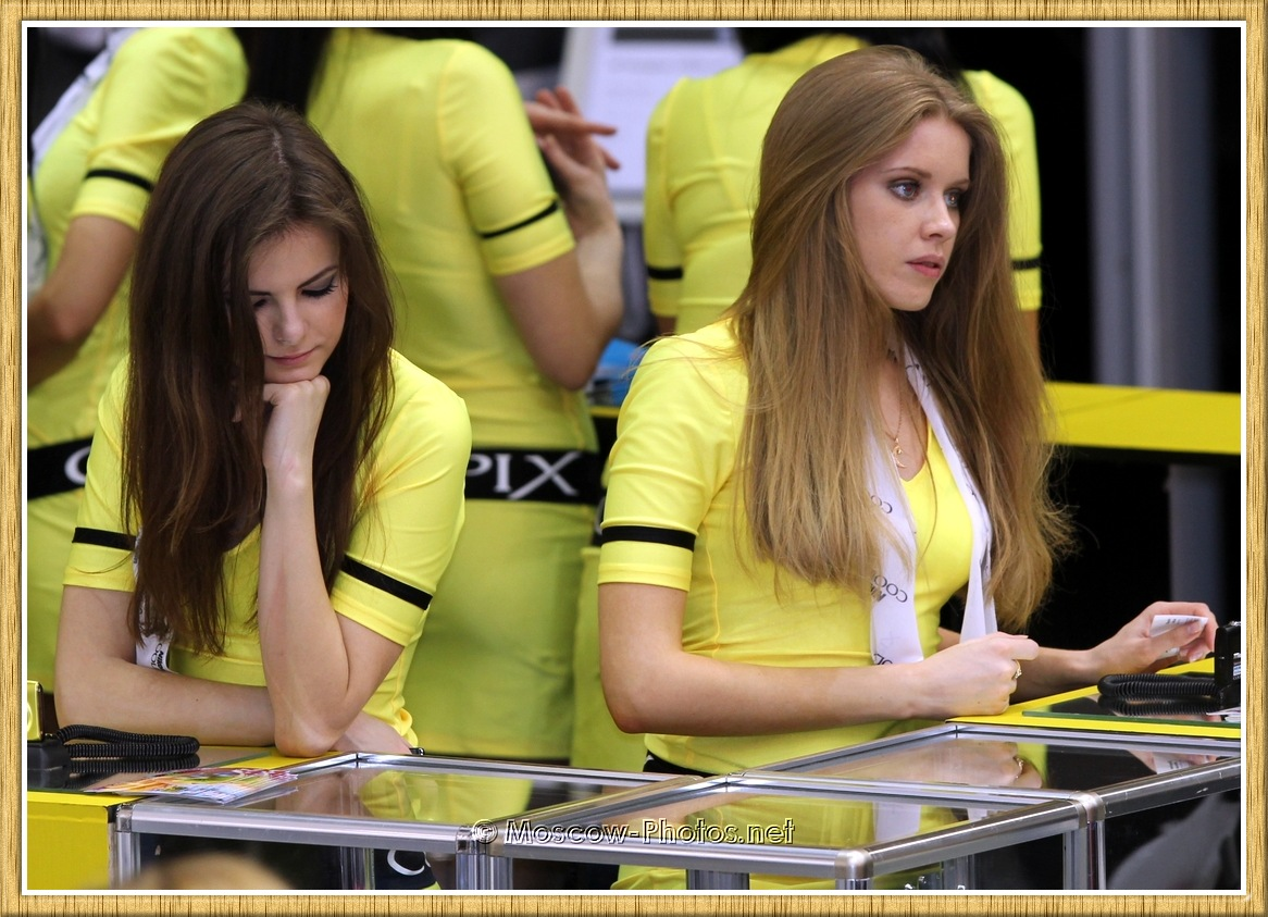 Promotional Models at Moscow Photoforum 2011