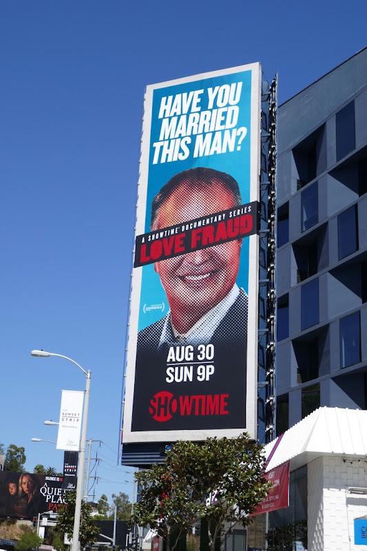 Love Fraud Showtime series billboard