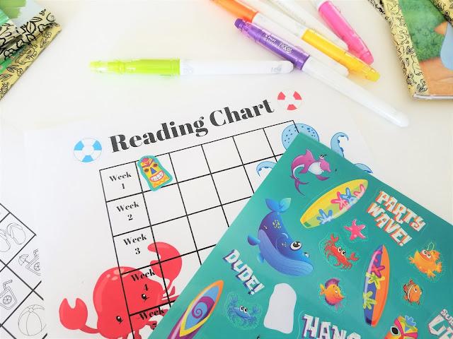 printable reading chart