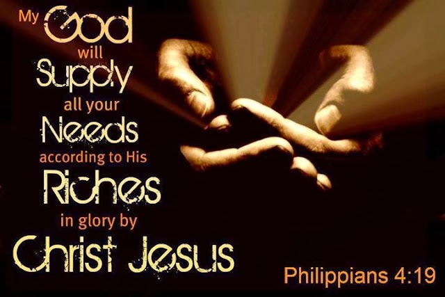Jesus will Supply all Your Needs