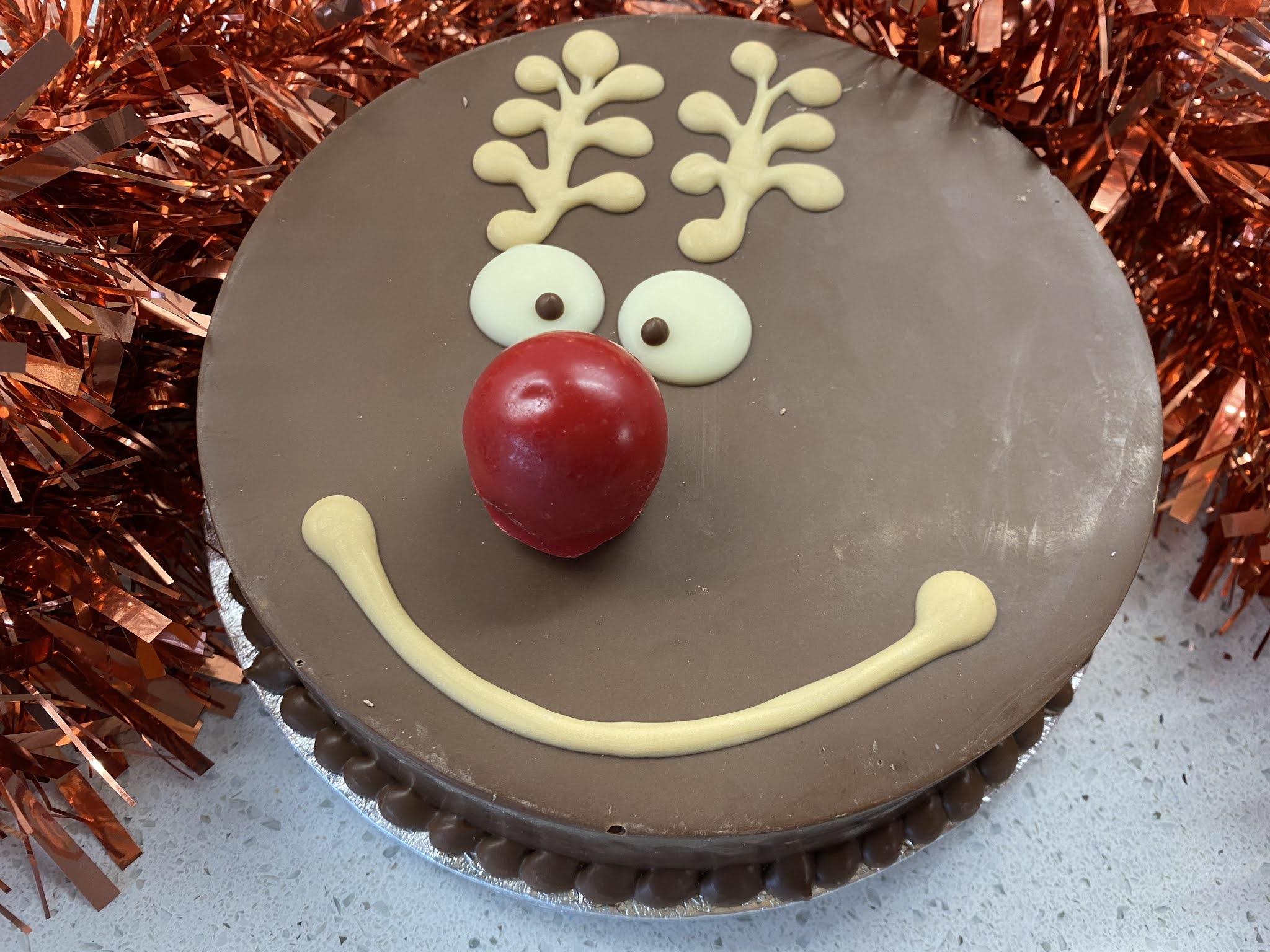reindeer smash cake