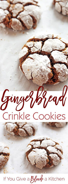 Ginggerbread Crincle Cookies