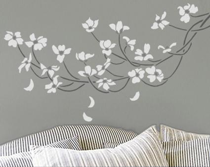 decoração-de-quarto-com-molde-vazado-stencil