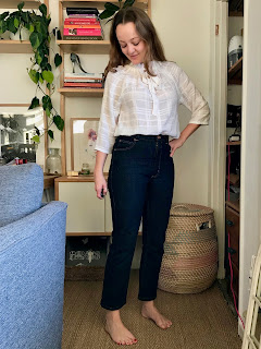 Textured Rayon Wilder Top and Dawn Jeans