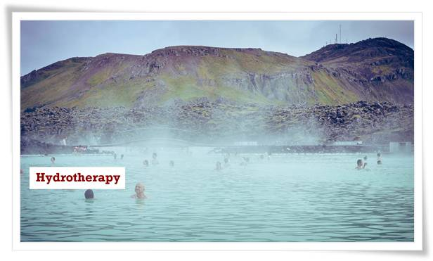 Hydrotherapy can be applied through