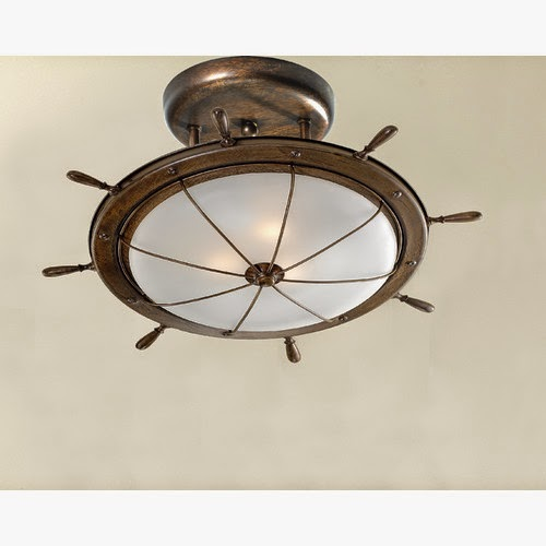 Ship Wheel Ceiling Light
