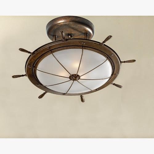 Ship Wheel Ceiling Light