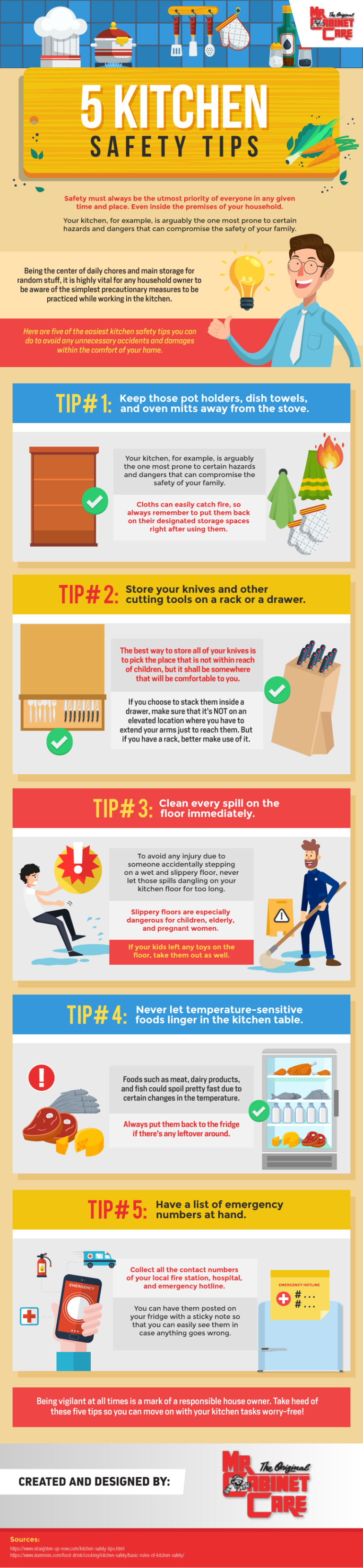 5 Kitchen Safety Tips #infographic