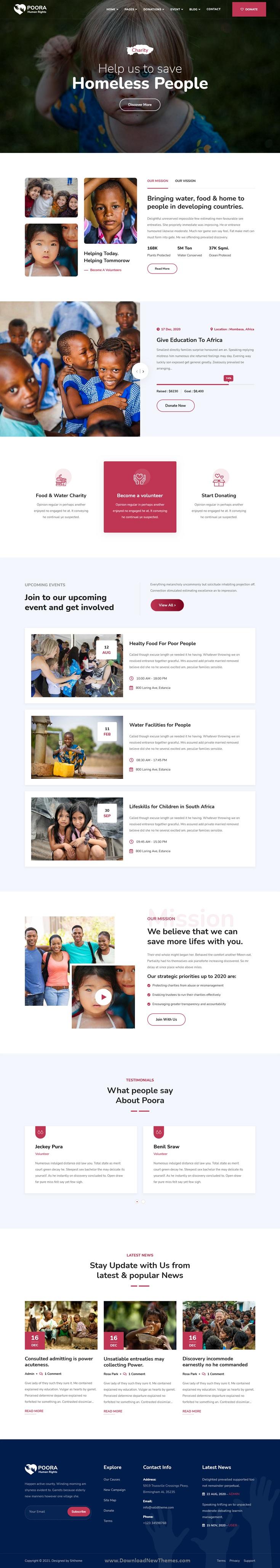 Fundraising and Charity WordPress Theme