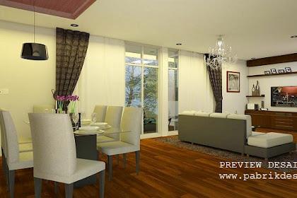 Jasa desain ruang keluarga gambar 3d interior murah berpengalaman