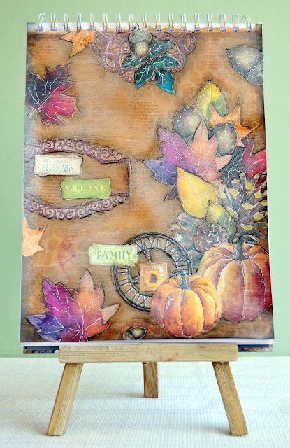 Dreams of Autumn & Time and Place_ Thanksgiving Blessed Art Journal Page_Denise_21 Nov 01