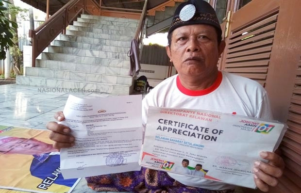 Makmuri, Relawan Kubu 01: Gara-gara Pilpres Saya Bercerai dengan Istri