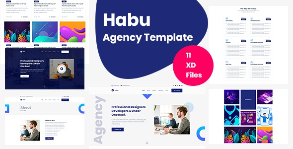 Best Agency Adobe XD Template