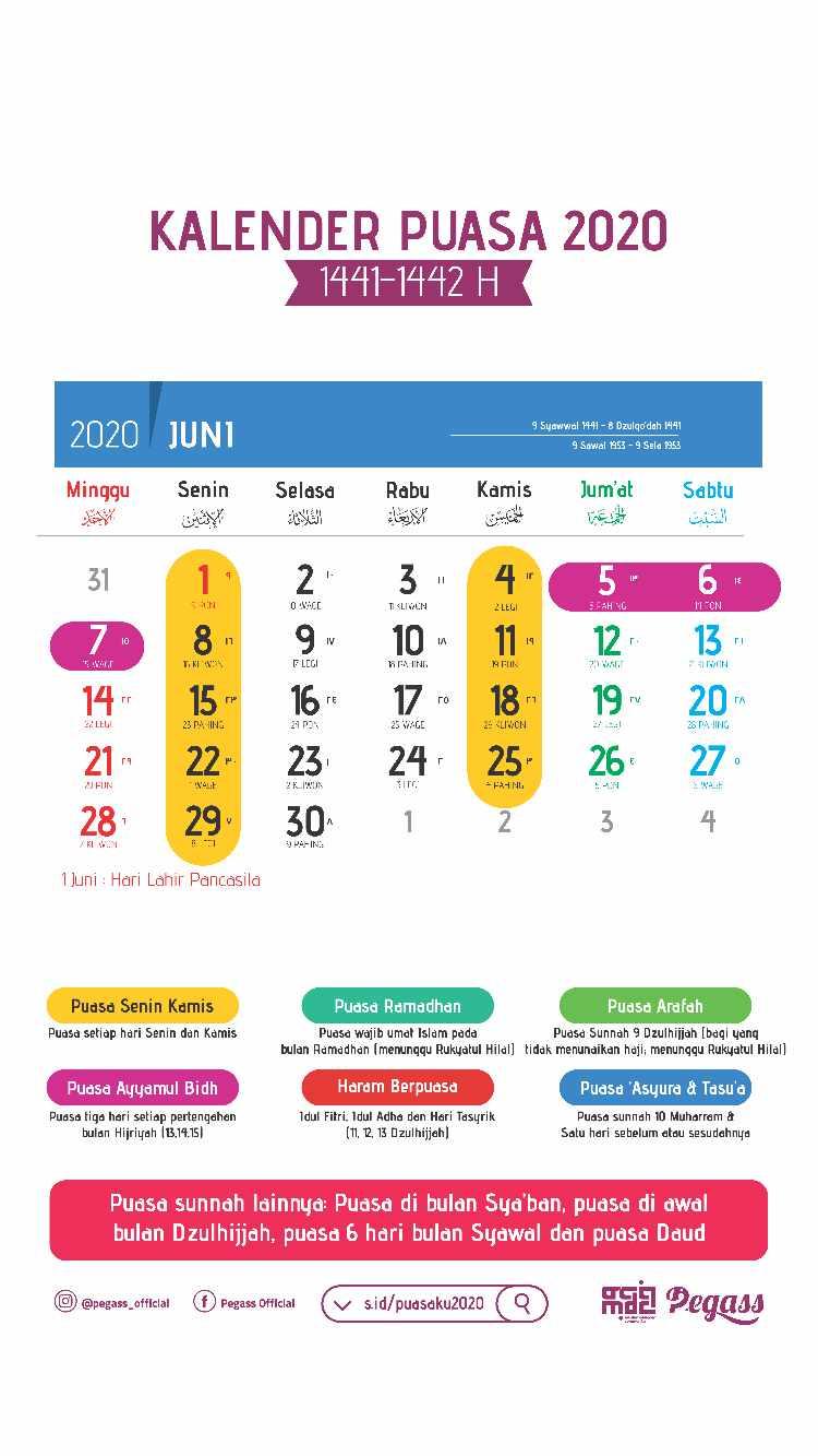 Download Template Kalender Puasa 2020 CDR Gratis Gambar
